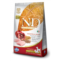 - N&D Low Grain DOG Light S/M Chicken & Pomegr 2,5kg