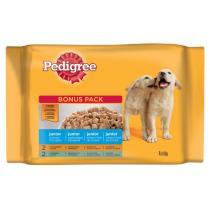 kapsičky pro psy - Junior s kuřecím a hov.masem a rýží v želé 4x100g